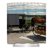 Amish Buggy Shower Curtain