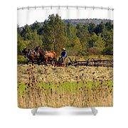 Amish Farming Shower Curtain