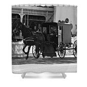 Amish Transportation Shower Curtain
