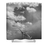 Amongst The Clouds Bw Shower Curtain