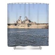 Amphibious Assault Ship Uss Wasp Shower Curtain