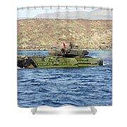 Amphibious Assault Vehicle Crewmen Shower Curtain