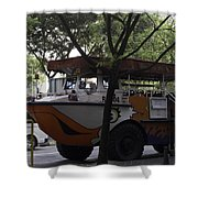 Amphibious Vehicle Used For Ducktour In Singapore Shower Curtain