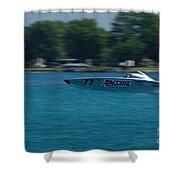 Amsoil Offshore Racer Shower Curtain
