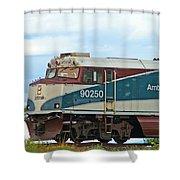 Amtrack Engine Shower Curtain