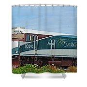 Amtraks Cascade Engine Shower Curtain