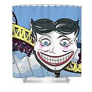 Amused Joker Shower Curtain