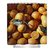 An Abundance Of Oranges Shower Curtain