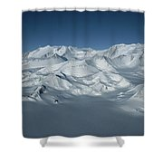 An Aerial View Of Mount Vinson Shower Curtain