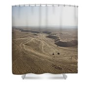 An Aerial View Of The Wadi Over Kunduz Shower Curtain