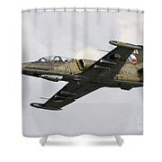 An Aero L-39za Albatros Trainer Shower Curtain