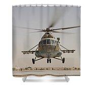 An Afghan Air Force Russian Mil Mi-17 Shower Curtain