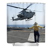 An Ah-1z Cobra Helicopter Takes Shower Curtain