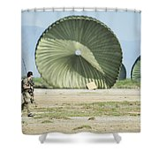 An Air Delivery Of Humanitarian Aid Shower Curtain