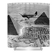 An Air Transport Command Plane Flies Shower Curtain