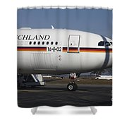 An Airbus 340 Acting As Air Force One Shower Curtain