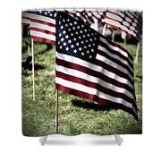 An American Flag Shower Curtain