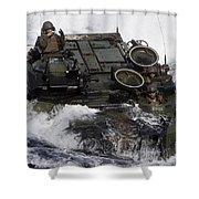 An Amphibious Assault Vehicle Shower Curtain