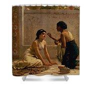 An Ancient Custom Shower Curtain by Edwin Longsden Long