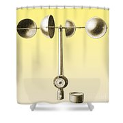 An Anemometer Shower Curtain
