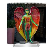 An Angel Shower Curtain
