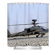 An Apache Helicopter Prepares Shower Curtain