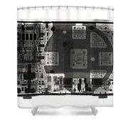 An Apple Ipod Shuffle Shower Curtain