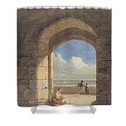 An Arch At Holy Island - Northumberland Shower Curtain