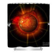 An Artists Concept Of The Stereo Shower Curtain by Stocktrek Images