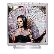 An Asian Zombie Shower Curtain by Stwayne Keubrick