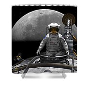 An Astronaut Takes A Last Look At Earth Shower Curtain