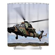 An Australian Army Tiger Helicopter Shower Curtain
