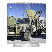 An Australian Defense Force Satellite Shower Curtain