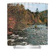 An Autumn Scene Along Little River Shower Curtain