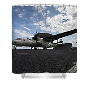 An E-2c Hawkeye Aircraft Prepares Shower Curtain