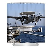An E-2c Hawkeye Launches Off The Flight Shower Curtain