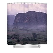 An Early Morning Landscape In Cubas Shower Curtain