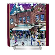 An Early Snow For Cafe Monte Alto Shower Curtain