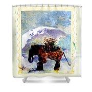 An Elephant Carrying Cargo Shower Curtain