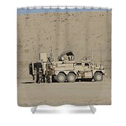 An Eod Cougar Mrap In A Wadi Shower Curtain