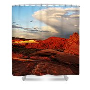 An Evening In The Valley Of Fire Shower Curtain