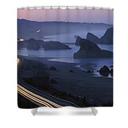 An Evening View Of Highway 101 South Shower Curtain