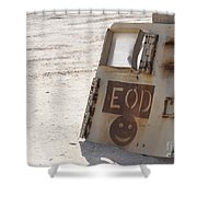 An Explosive Ordnance Disposal Logo Shower Curtain