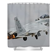 An F-15d Eagle Baz Aircraft Shower Curtain