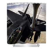 An F-15e Strike Eagle Aircraft Receives Shower Curtain by Stocktrek Images