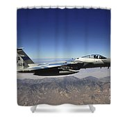 An F-15e Strike Eagle From The 65th Shower Curtain