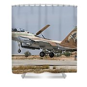 An F-15i Raam Taking Off From Hatzerim Shower Curtain