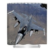 An F-16 Fighting Falcon Returns Shower Curtain