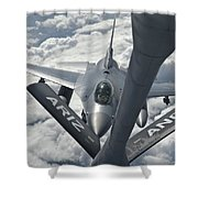 An F-16 From Colorado Air National Shower Curtain