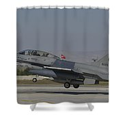 An F-16b Of The Pakistan Air Force Shower Curtain